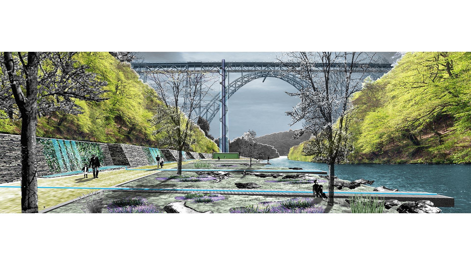 Besucherzentrum Brückenpark, Freiberg | Sauerzapfe Architekten