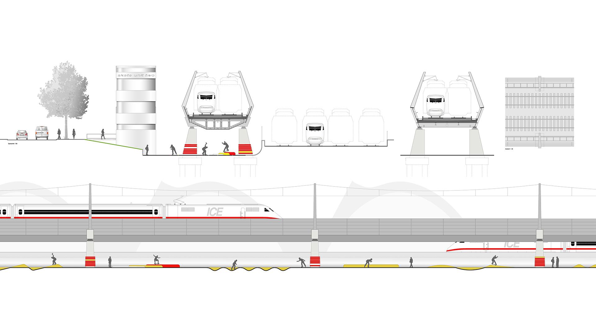 Pfeilerbahn HafenCity, Hamburg | Sauerzapfe Architekten