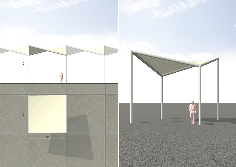 Schattendächer TXL   Sauerzapfe Architekten