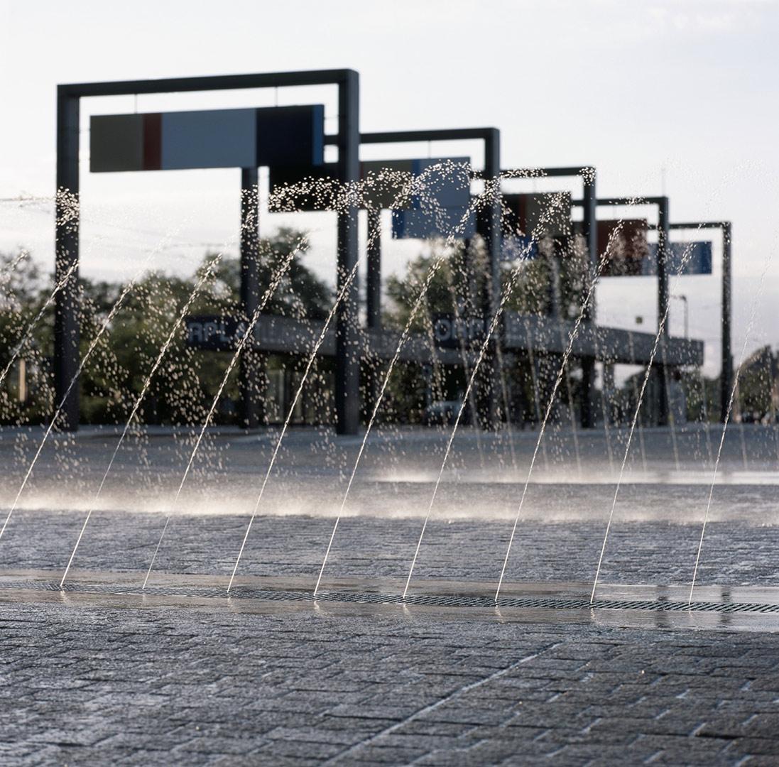 Stadtpergola Haupttorplatz, Leuna | Sauerzapfe Architekten